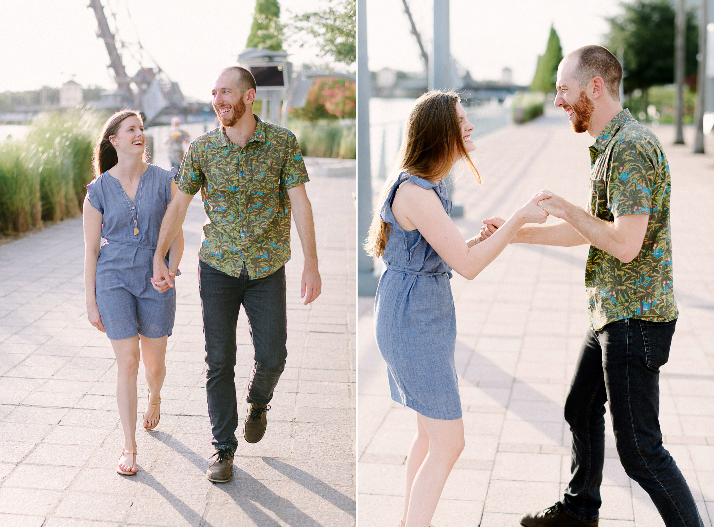 Dowtown Tampa Engagement Session in the City