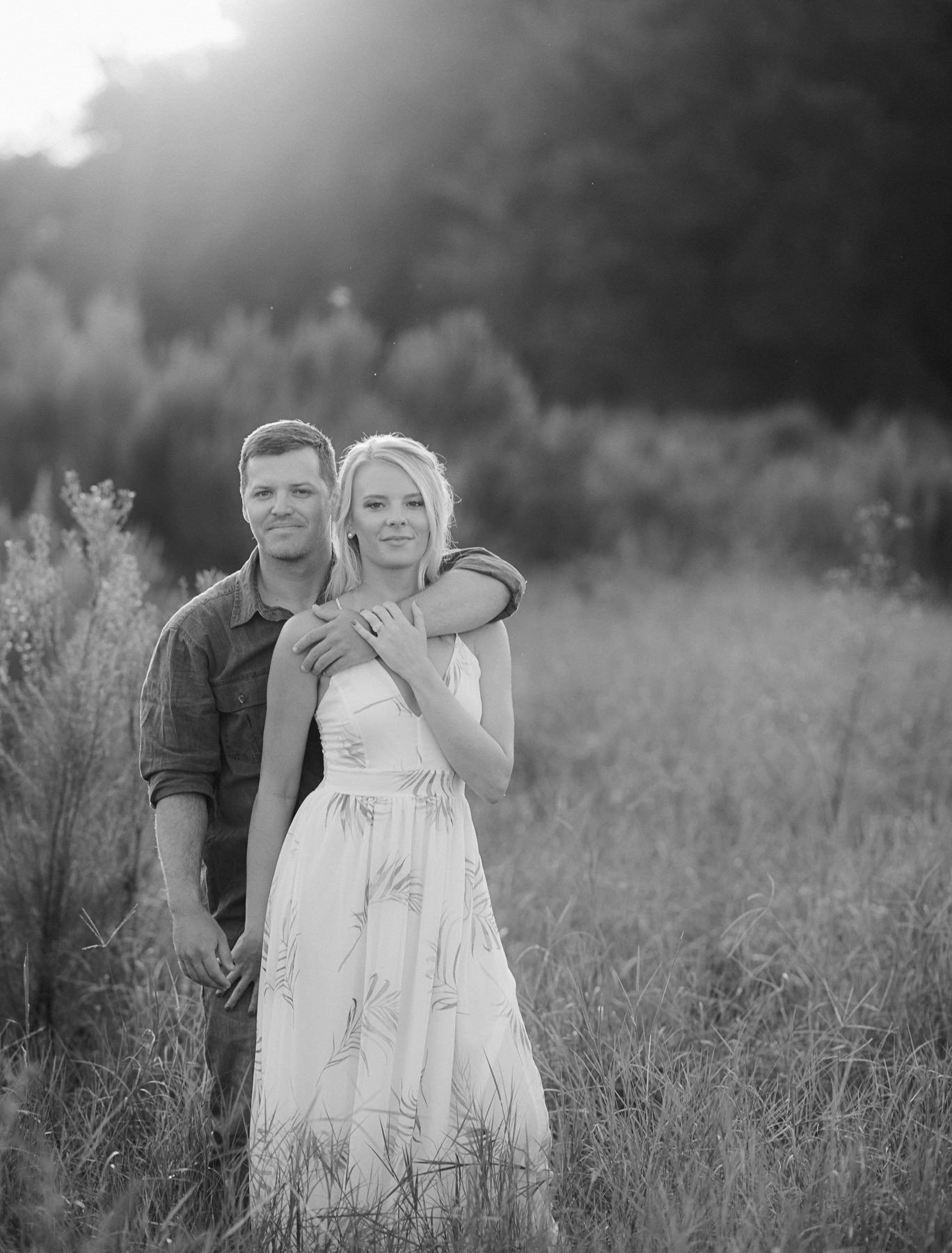 Sunglow Photography - Grassy Field Engagement Session Central Fl