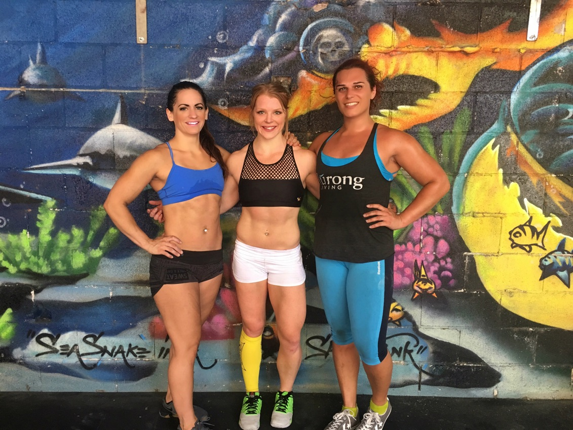After a fun day of training in the Shark Tank (at Midtown Strength and Conditioning)with Amber and Hannah last week.