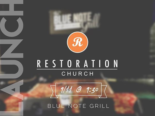The time is now ! Get excited, spread the word, and bring a friend this Sunday @thebluenotegrill at 9:30am #churchplant #downtowndurham #durham #churchplanting #raleigh #duke #unc #restoration