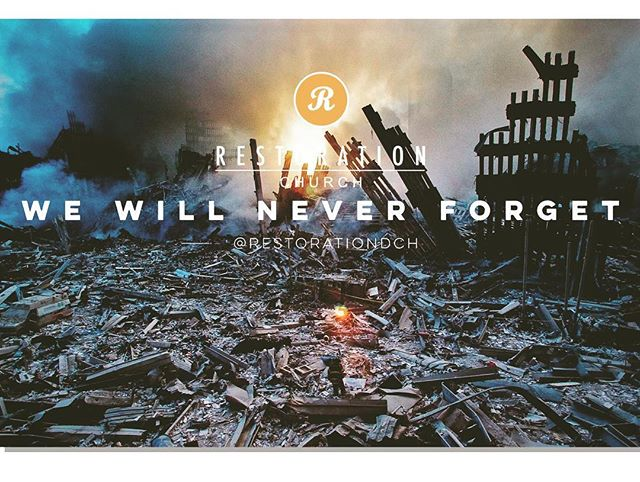 The biggest news tomorrow isn't our church launch. To all our families who lost, first responders, doctors, nurses, and military personnel. We know your daily sacrifice and you are in our prayers. #neverforget #durham #911 #downtowndurham
