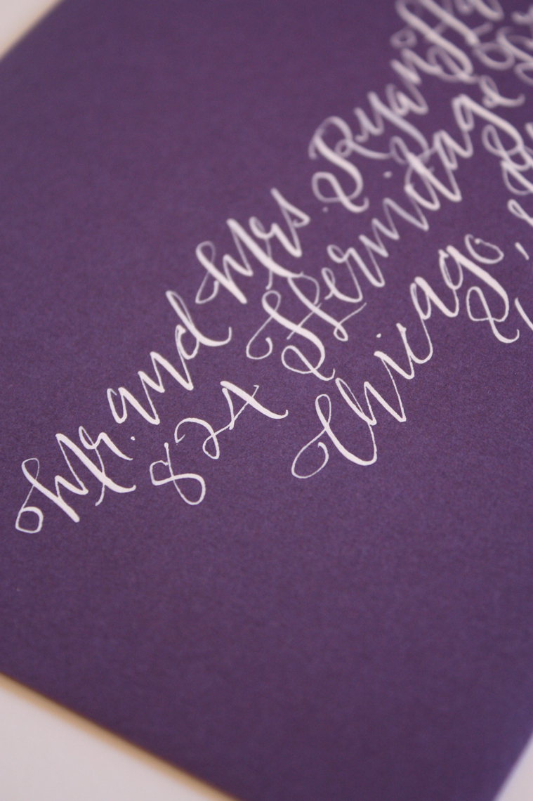 calligraphy envelopes for wedding