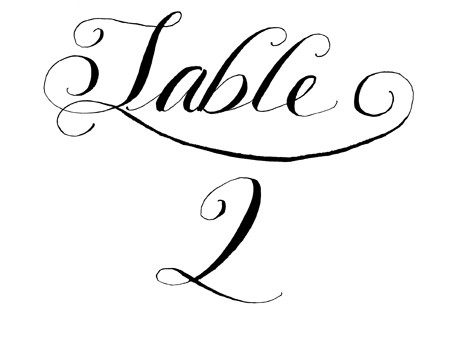 image relating to Printable Table Number named Hand Calligraphy Printable Desk Figures for Weddings and Exceptional Functions JPEG Do it yourself Ideas by means of Robyn Appreciate