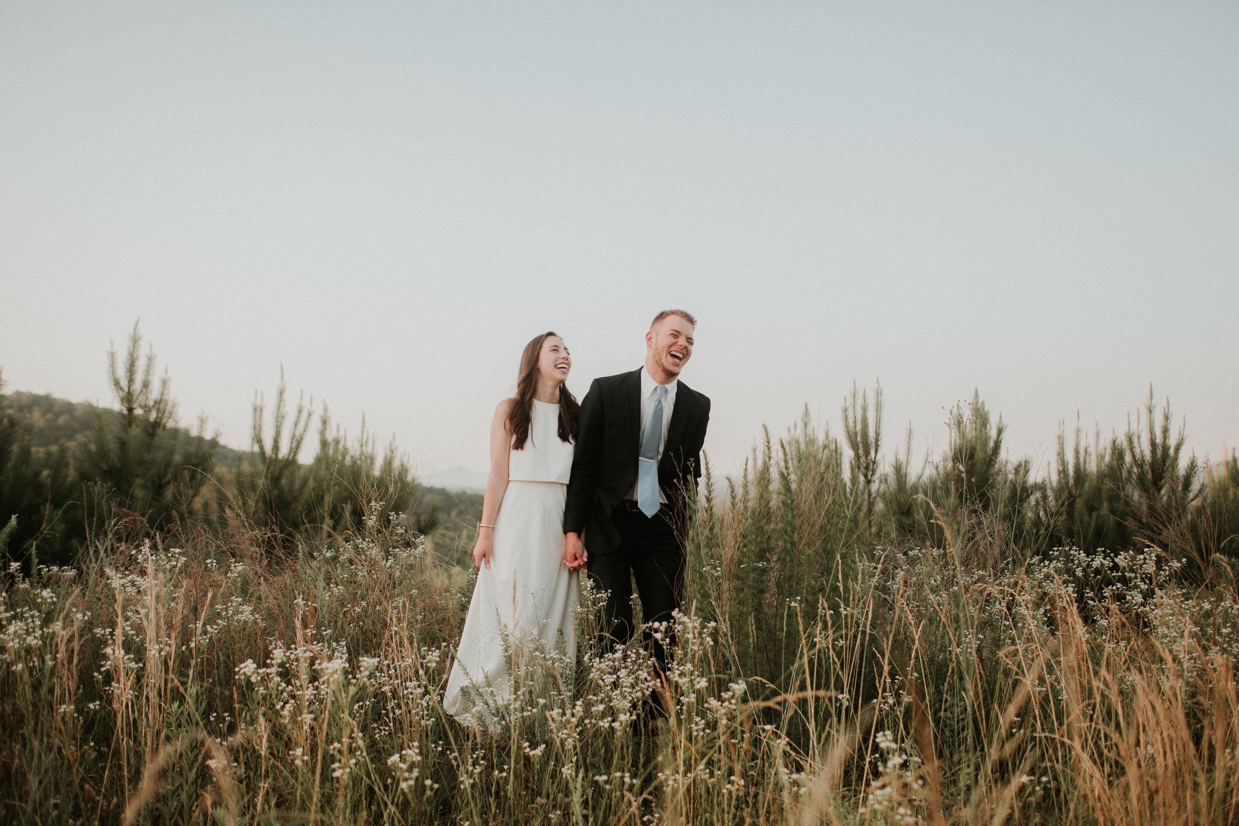 Fun wedding couple photography