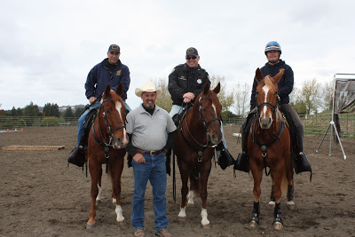 Randy with members of the San Francisco Police Mounted Unit.