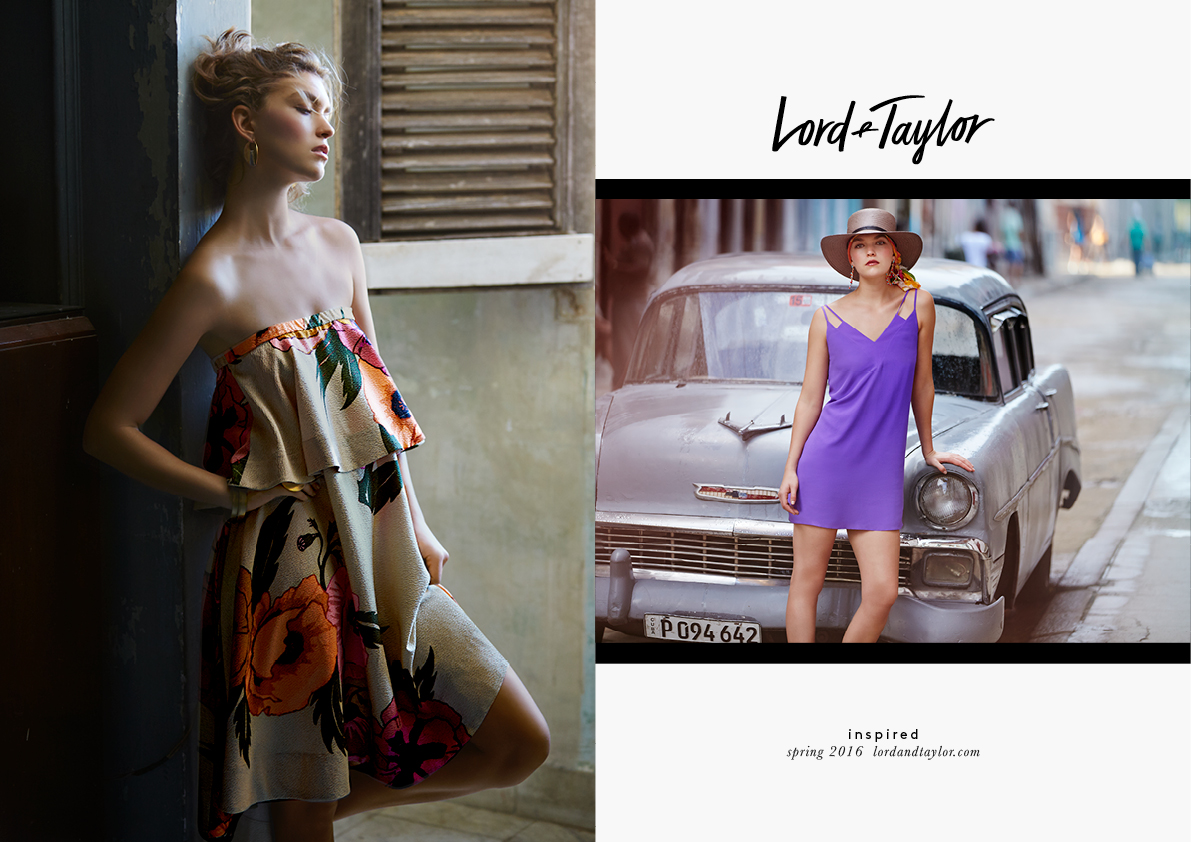 Lord & Taylor Spring 2016. Arizona Muse photographed by David Bellemere