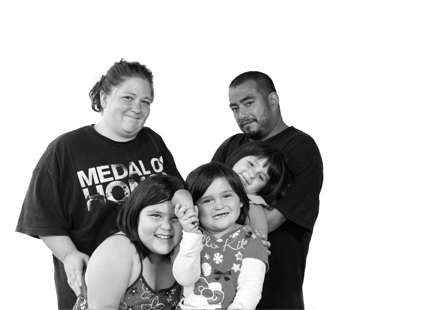 Kerri & family, combined family of six living with her mother to share living expenses