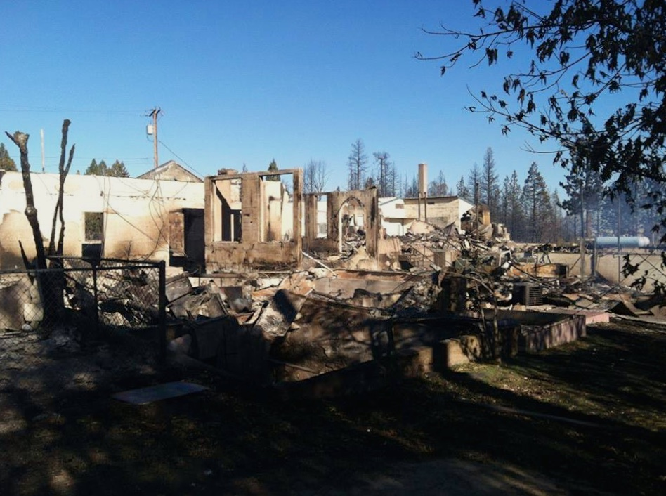 Aftermath of the fire...