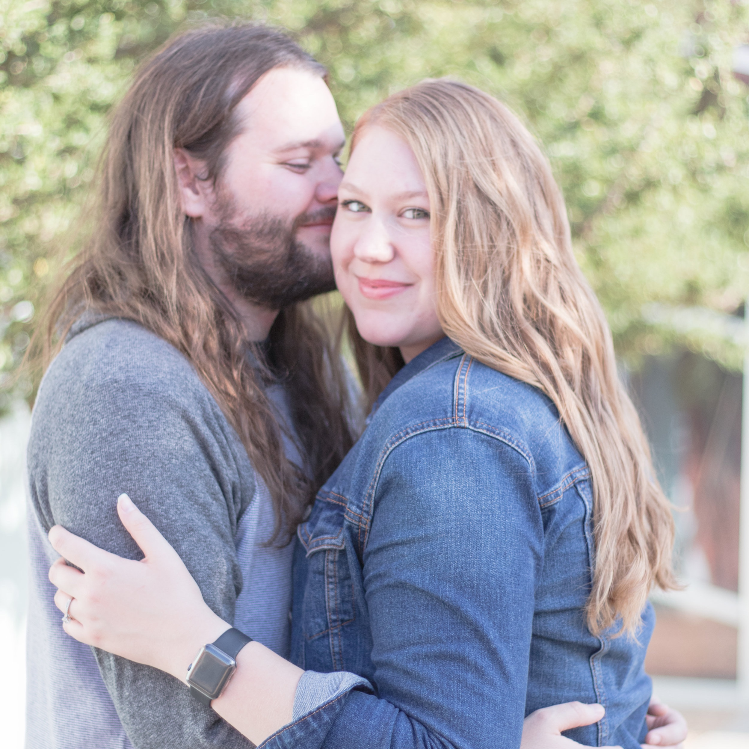 """Carly Pruiett  """"Christina is an absolute joy to work with. She made me and my fiancé feel so comfortable and that comfort reflected in our photos! I highly recommend Christina for all of your photography needs."""""""