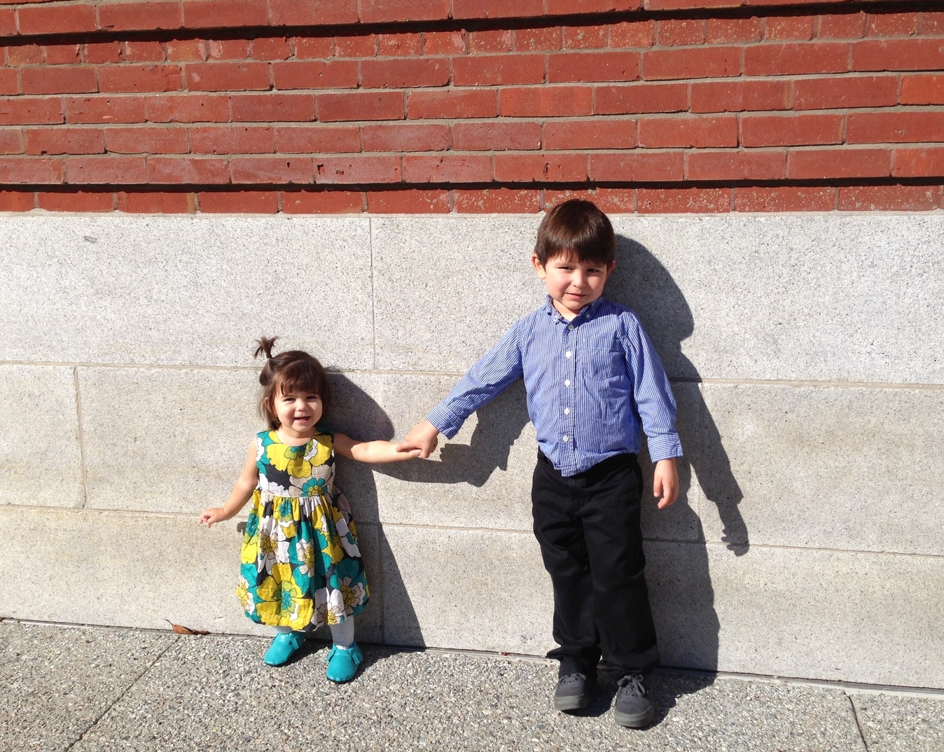 An iphone picture I took of them right after church, I couldn't resist the temptation;)