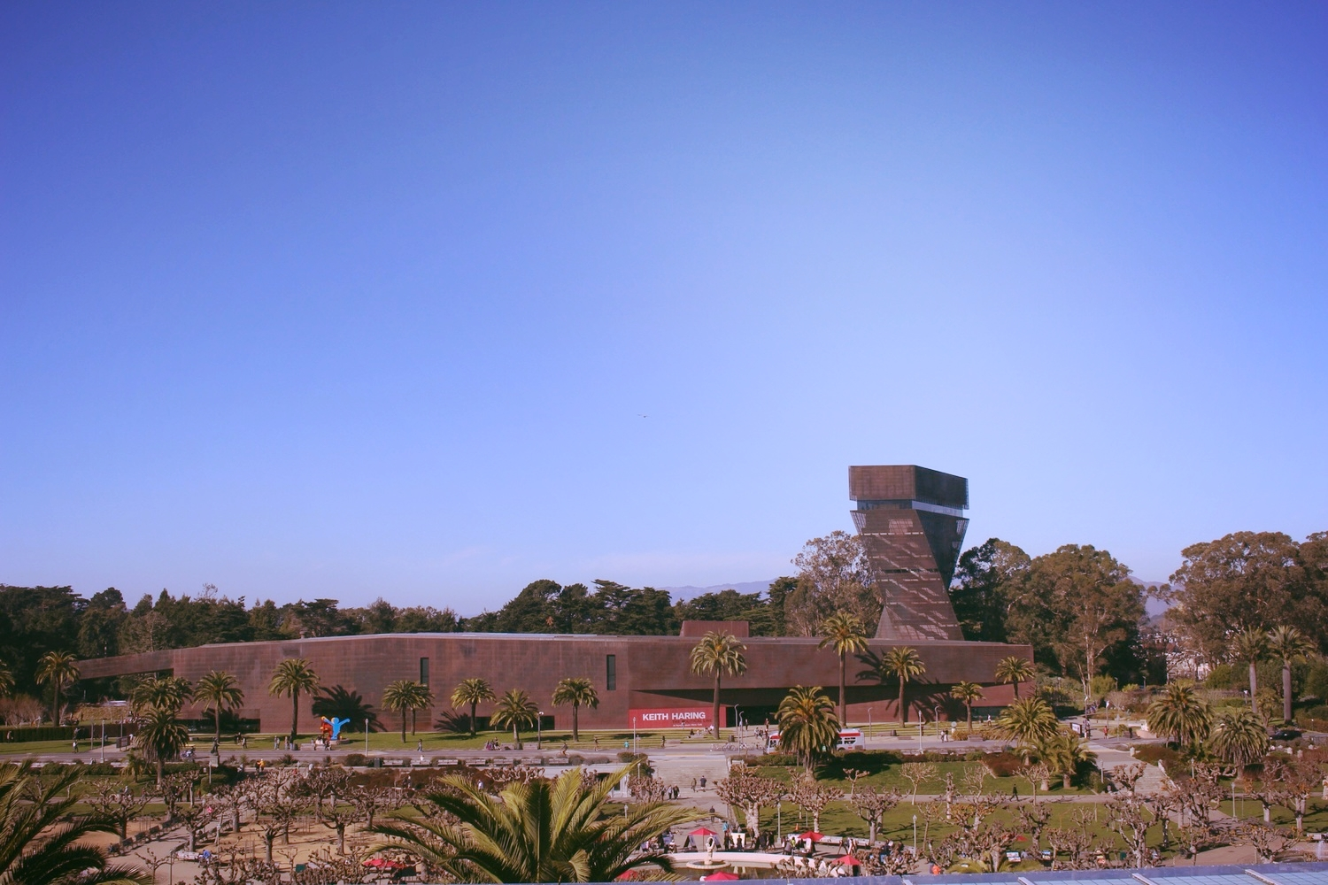 Our view from the roof. That's beautiful DeYoung Museum.