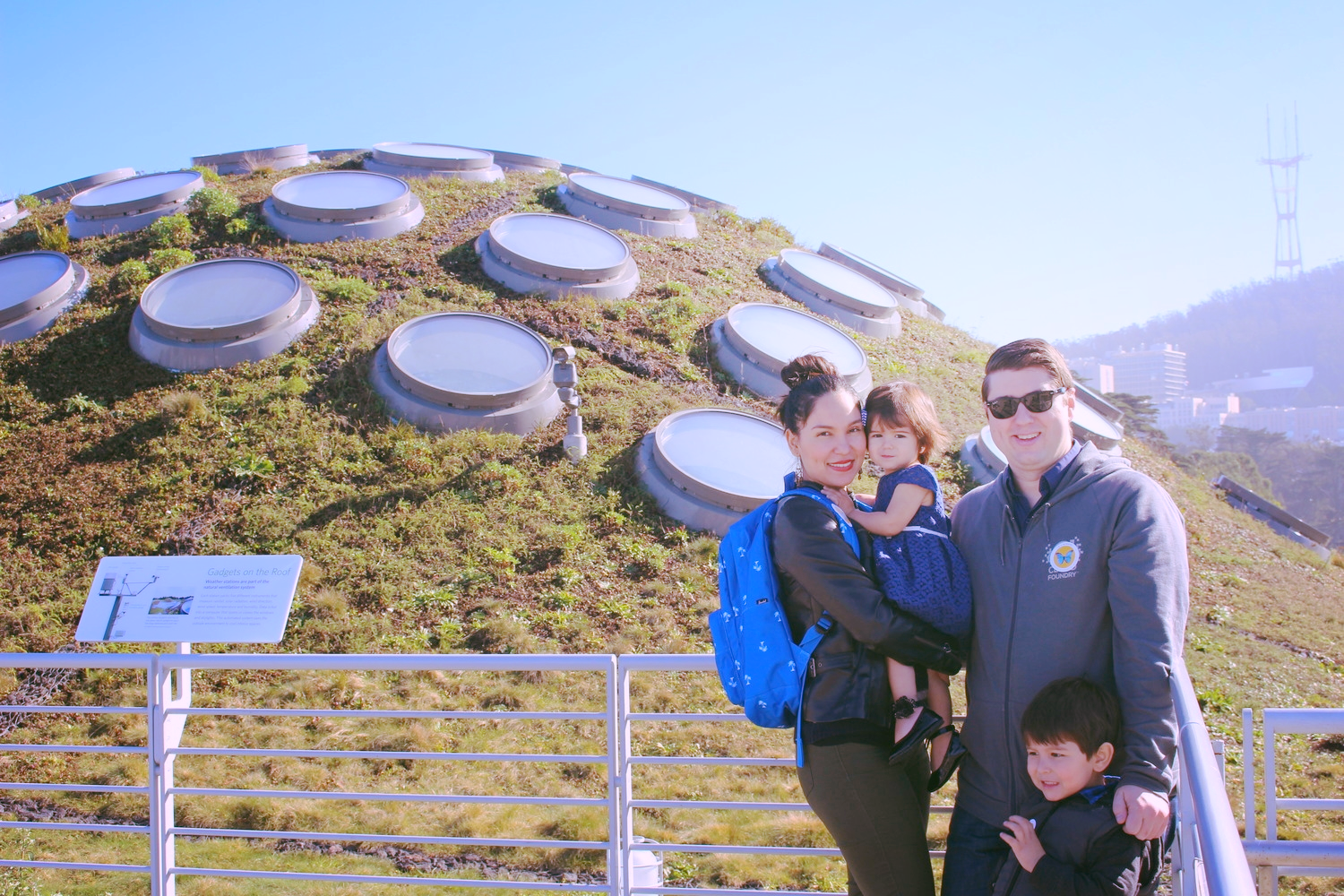 Our family at the Living Roof of CalAcademy.
