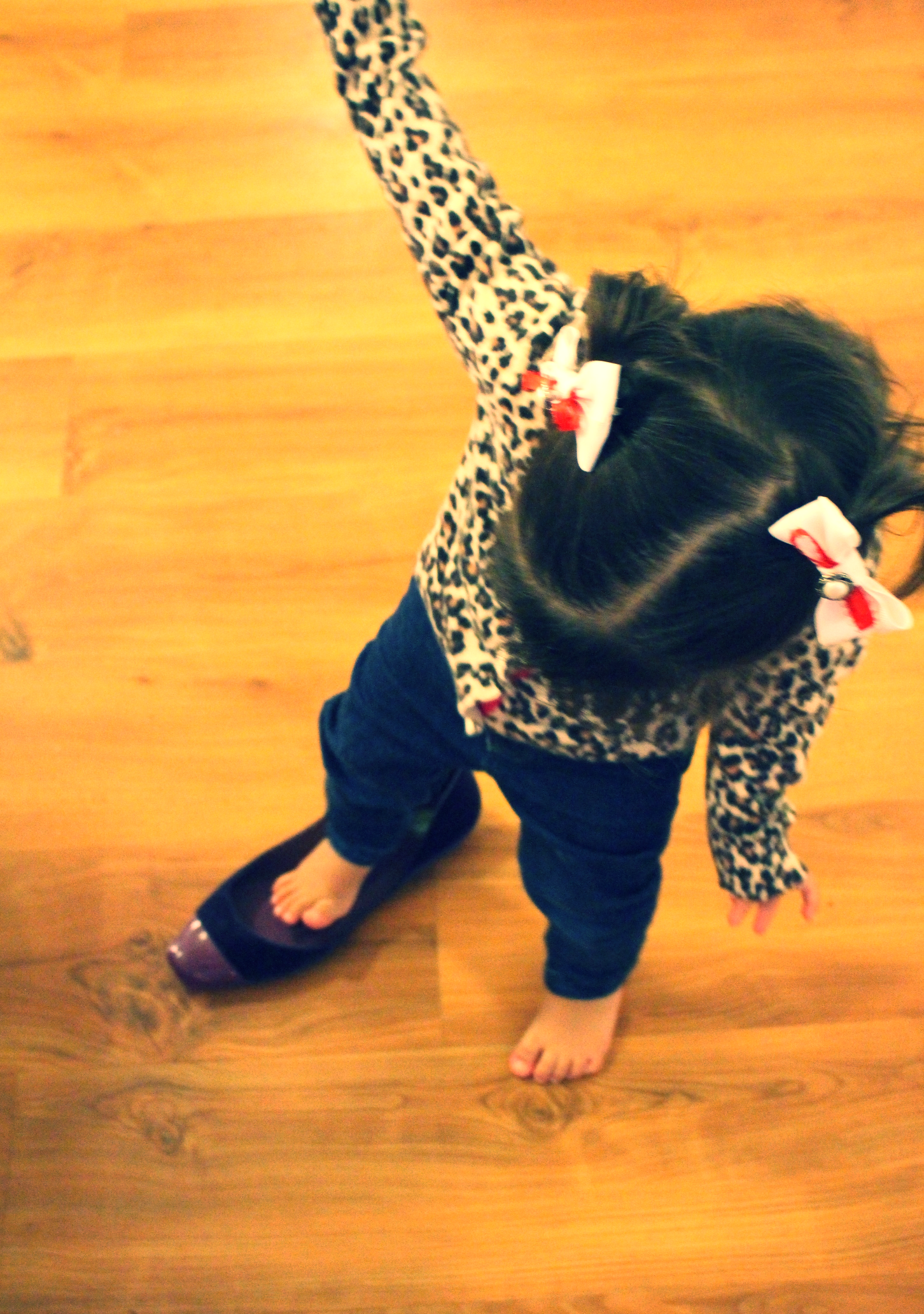 Her latest fixation: shoes.