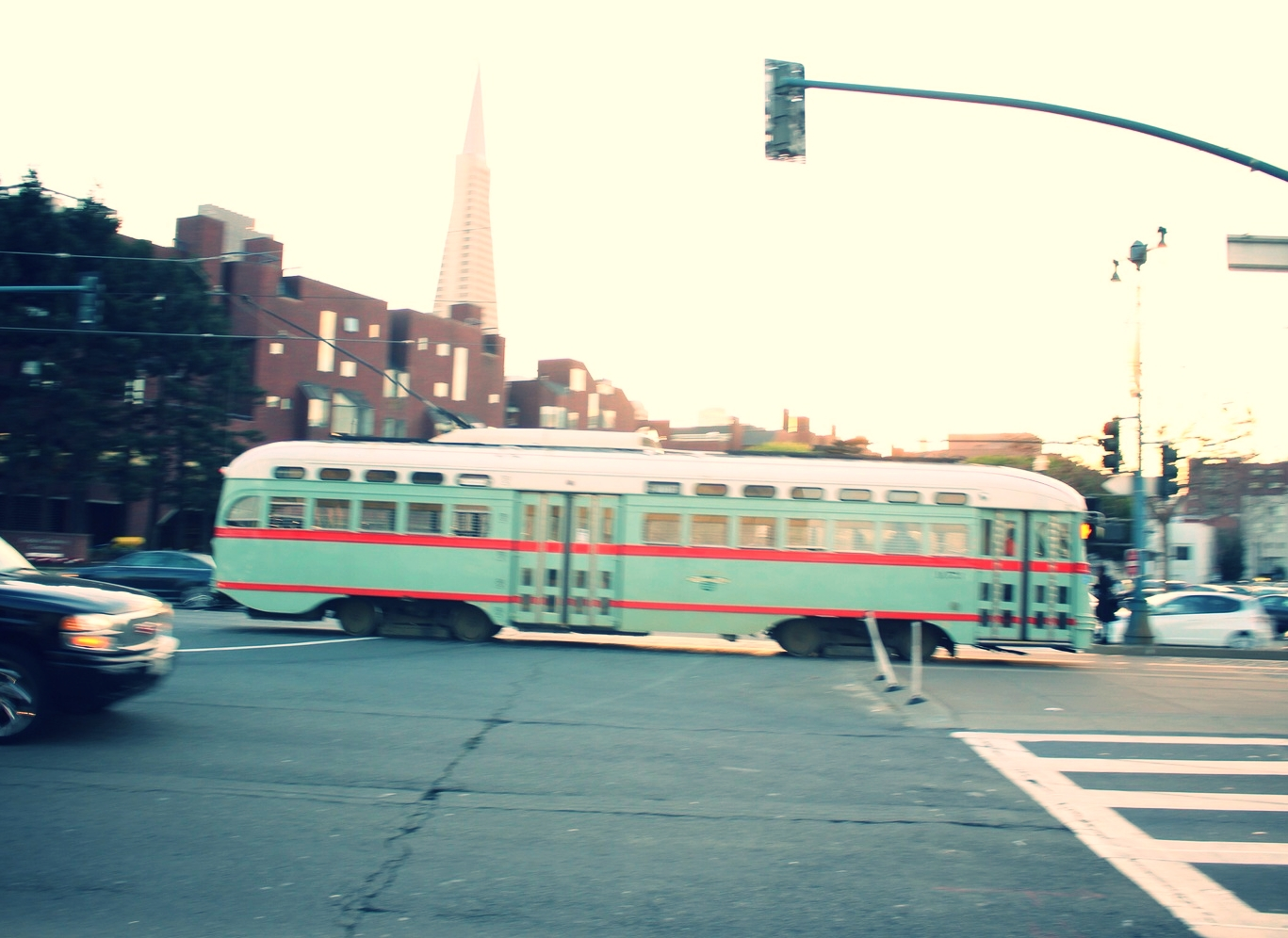 I love how the city takes this vintage street cars, that often come from places like Italy, and renovate them.