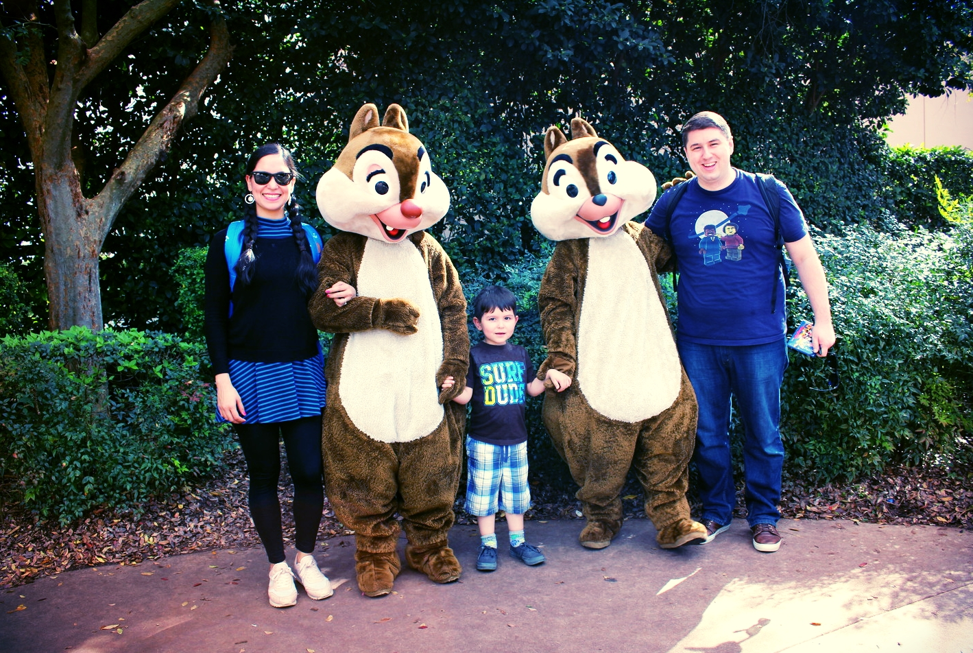 This was Mark Jacinto's first autograph job: Chip & Dale