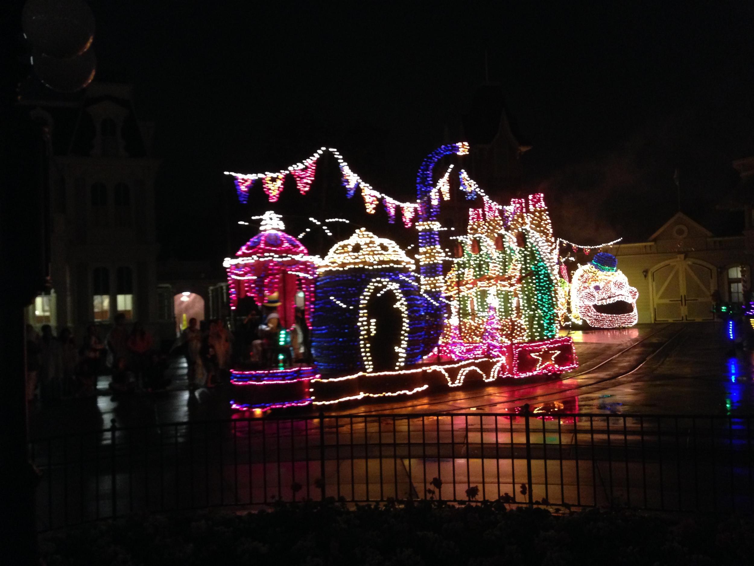 Disney parade/light show.