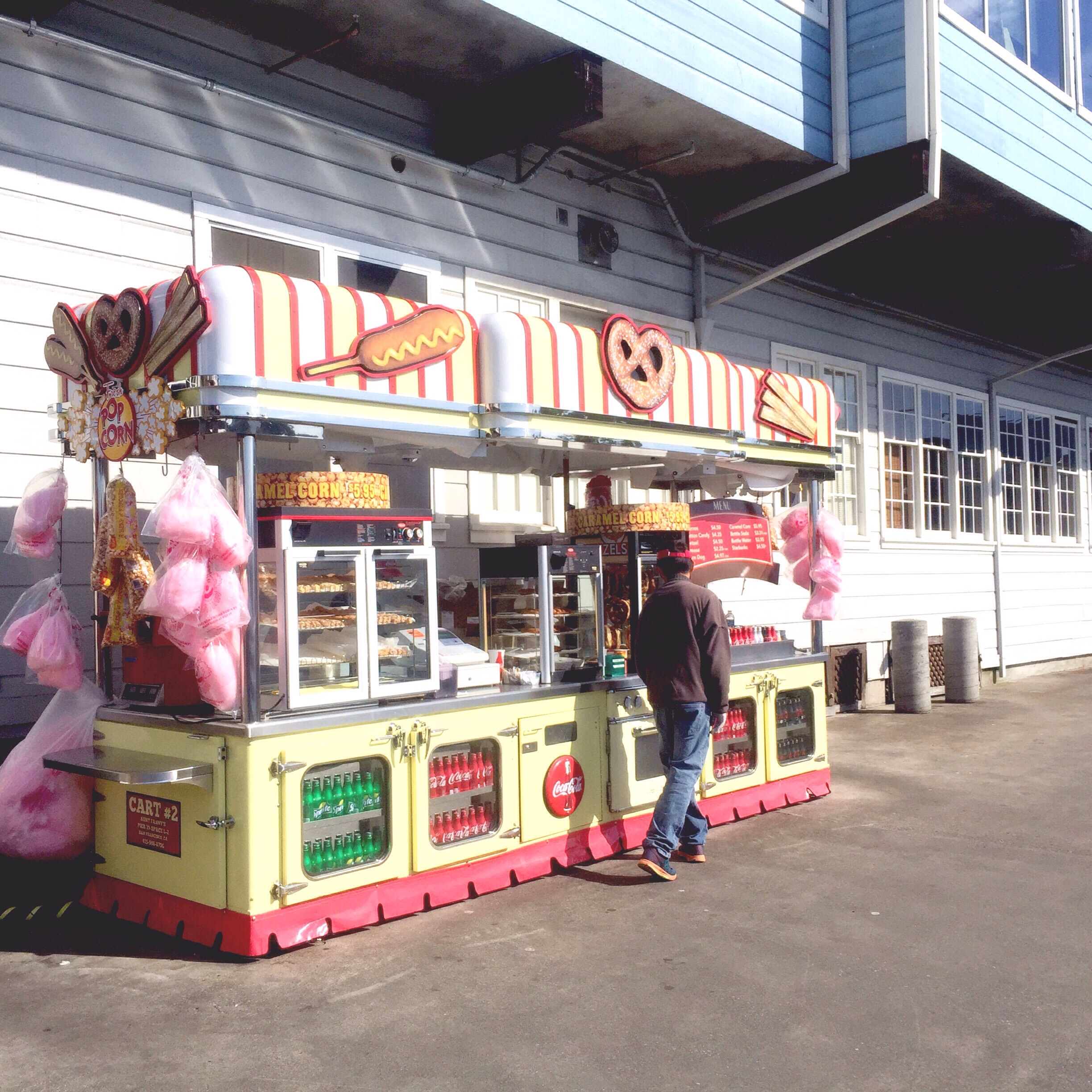 Love this cute little food stands.