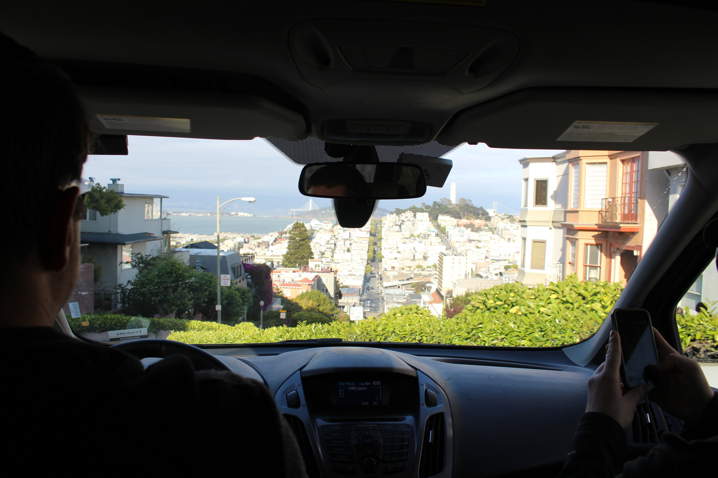 View from the top of Lombard street.