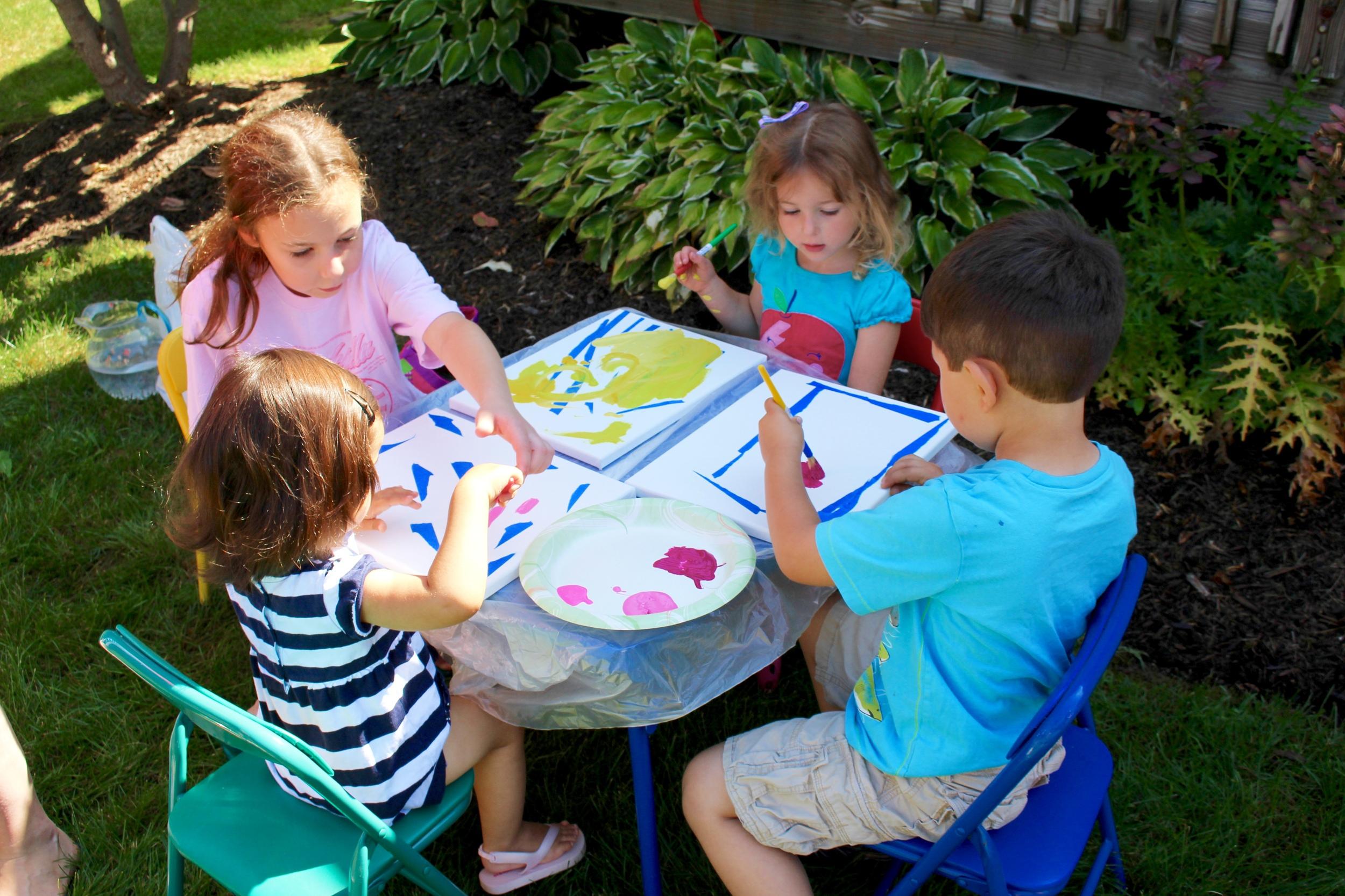 Cousins doing art<3