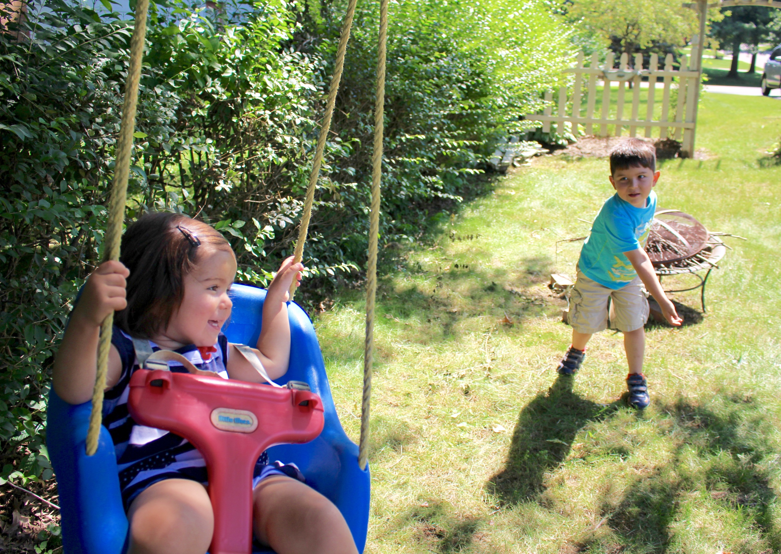 Dominika's favorite thing: the swing!
