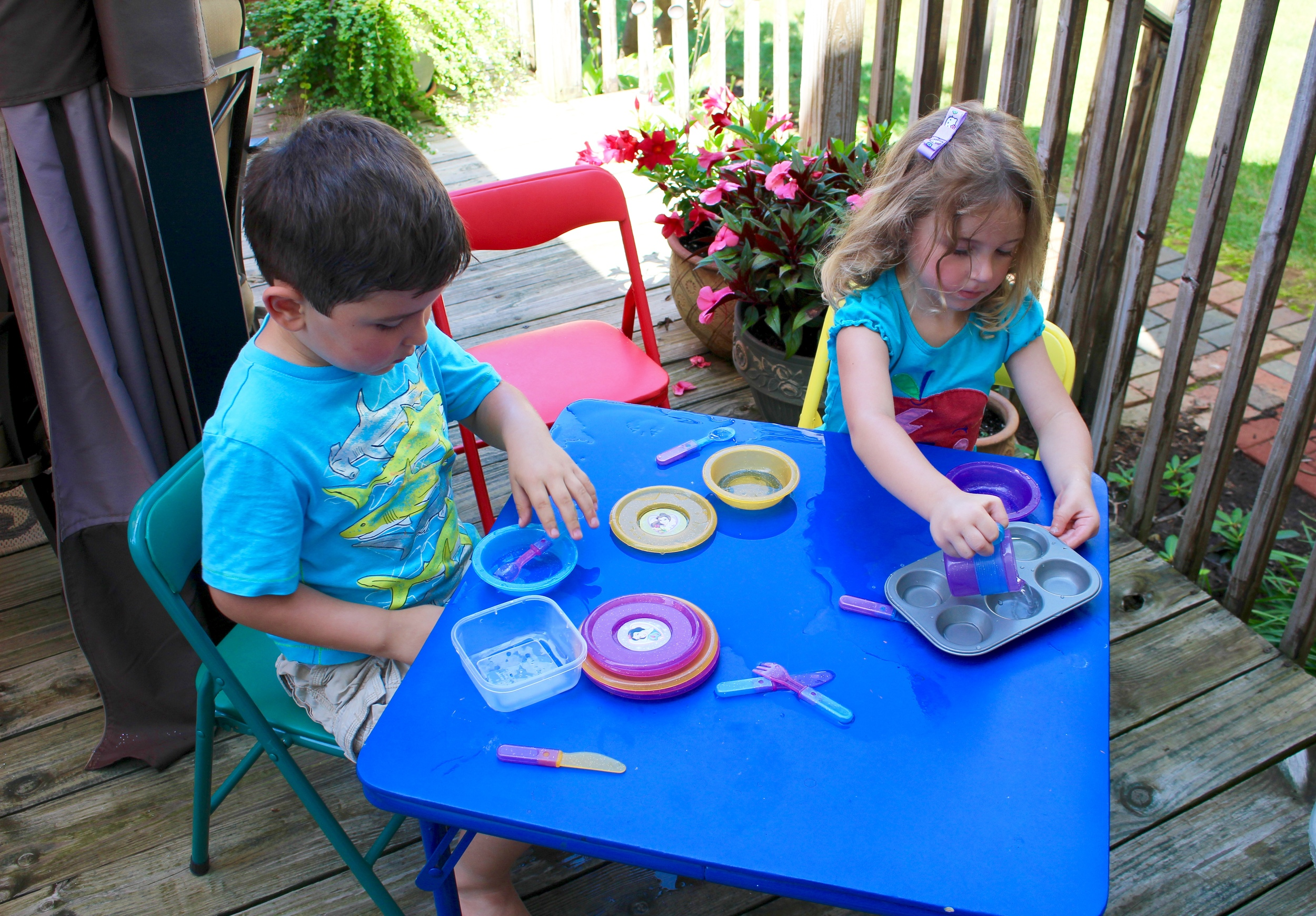 Kids can play with water for hours!.