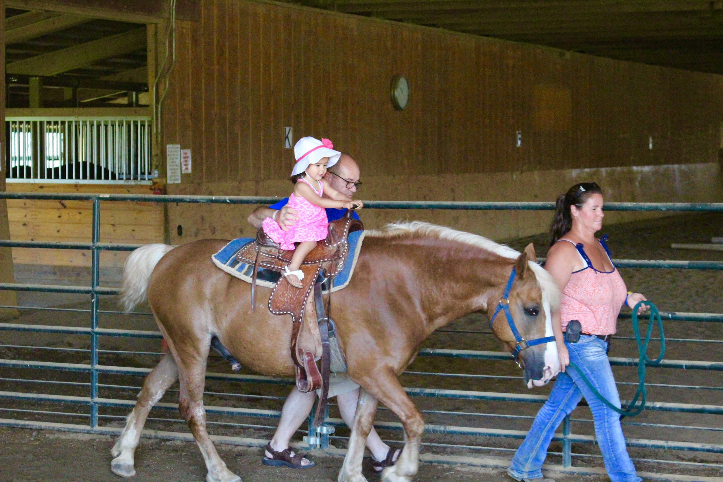 Her first time riding a horse<3