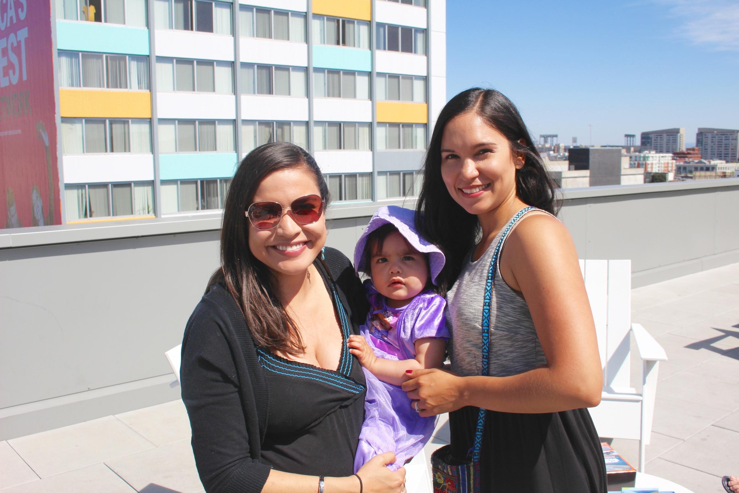 Maria Jose, baby Eliana and I>