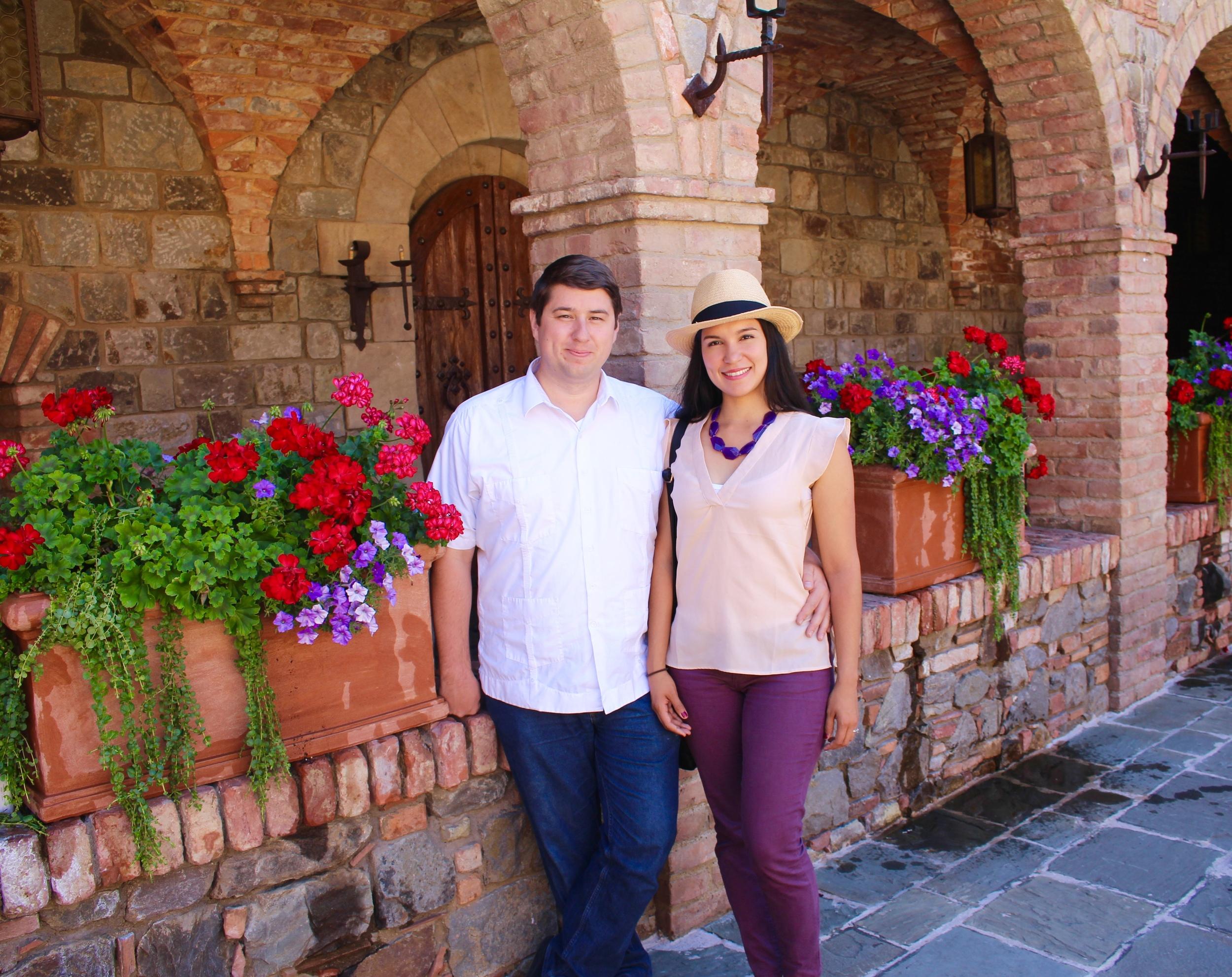 My esposo bonito and I.