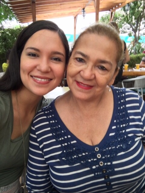 My grandmother Carmen and I. She is my princess, we share so many things in common!! Including birthday!!