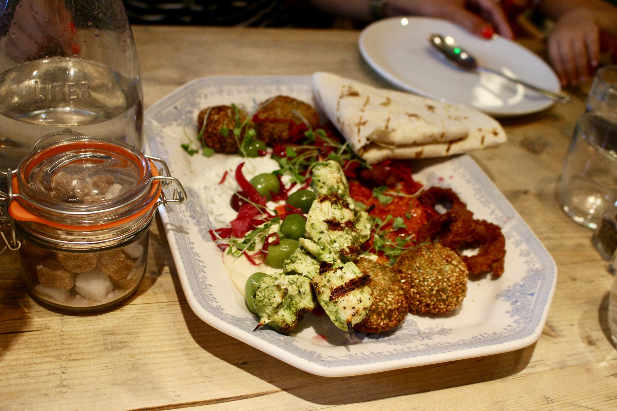 I don't know if the photo does it justice but the falafel was amazing.