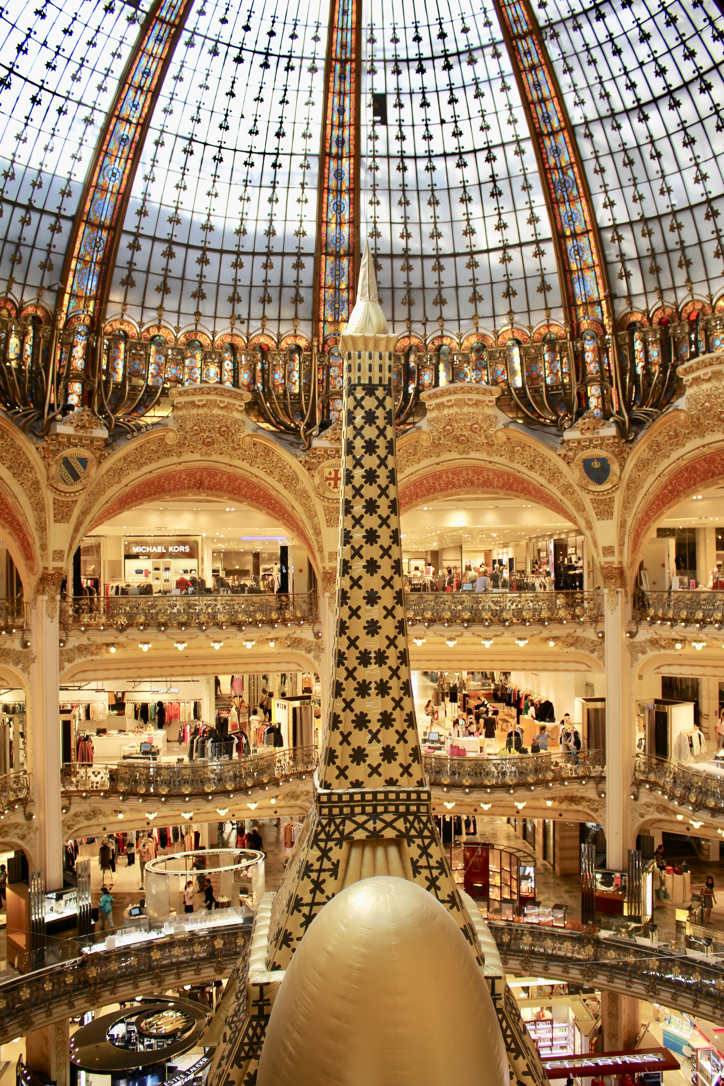 a shopping mall in Paris.