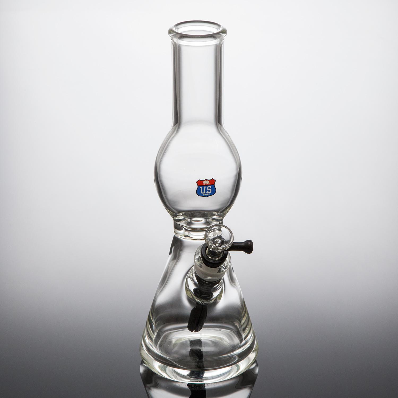 Beaker tube w/ egg shape neck
