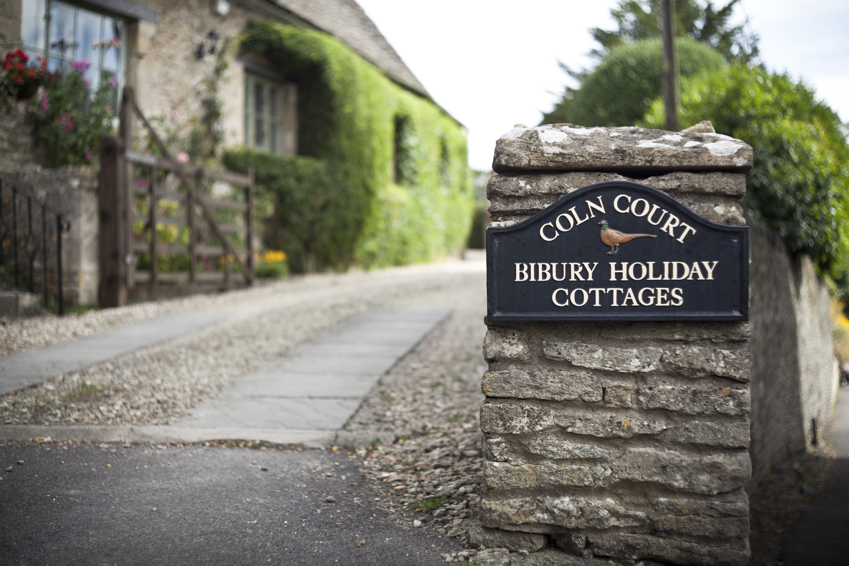 Bibury Holiday Cottages Self Catering Gloucestershire Sign