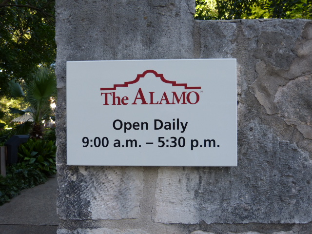 The back entrance to the gardens behind the Alamo