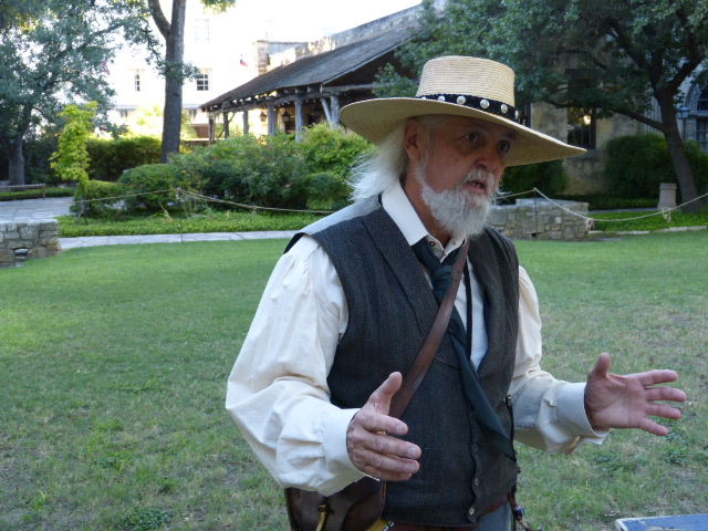 Once he put his flintlock rifle down and started talking with his hands I knew we were in trouble. He was definitely into the history of the Alamo.