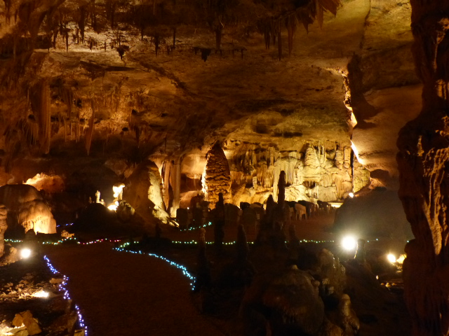 Head still ringing and hurting, I took this shot of one of the main rooms of the cave.
