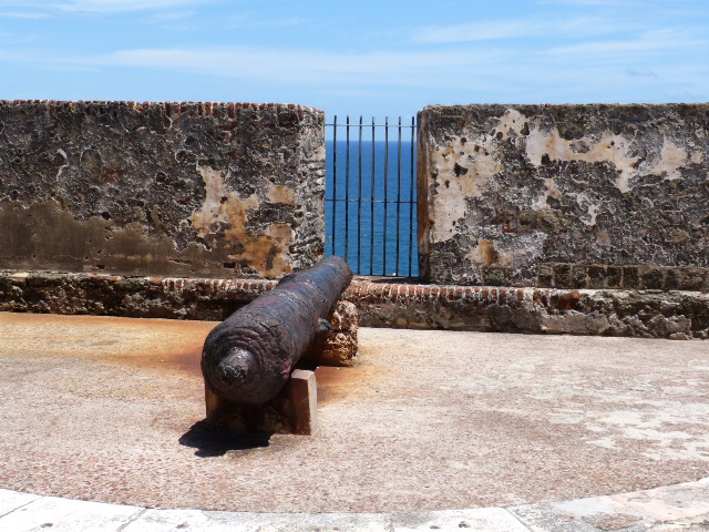 Cannon guarding against approaches from the sea