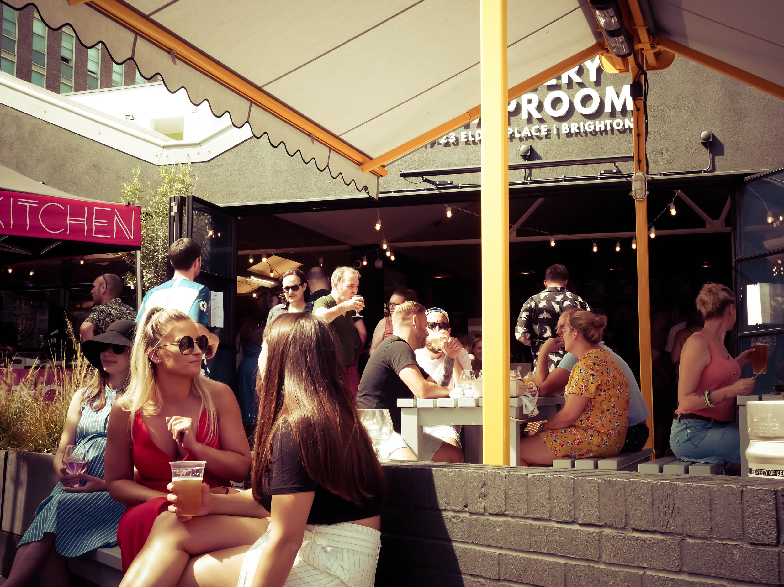 Brighton pub beer garden, UnBarred Brewery and Taproom