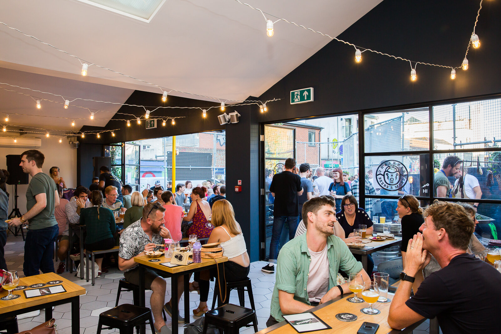 UnBarred Taproom interior, food from Fatto a Mano Pizza plus Streetfood Unbarred every Sunday - the best of street food from Brighton, Sussex and beyond