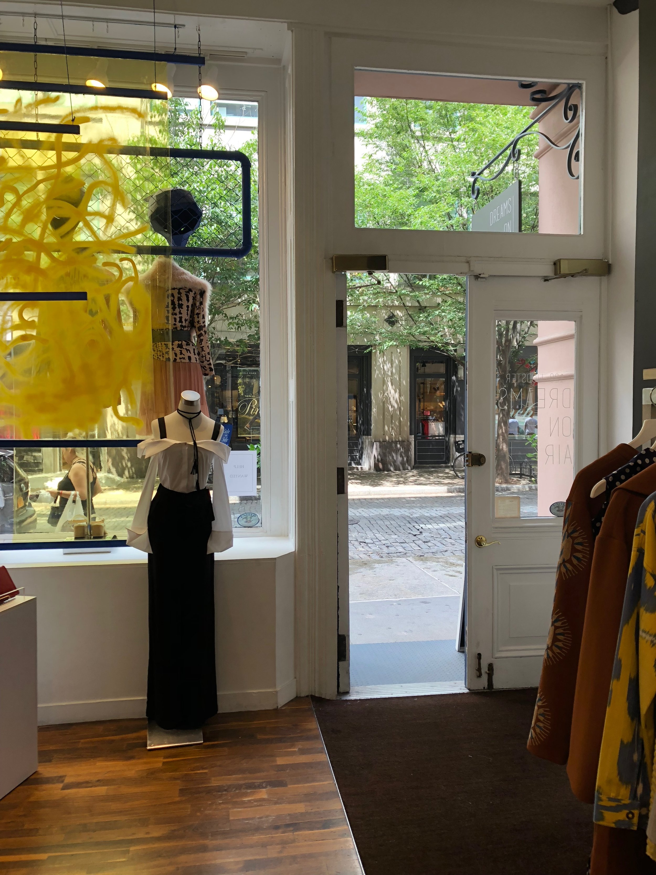 Wooster Street view from inside