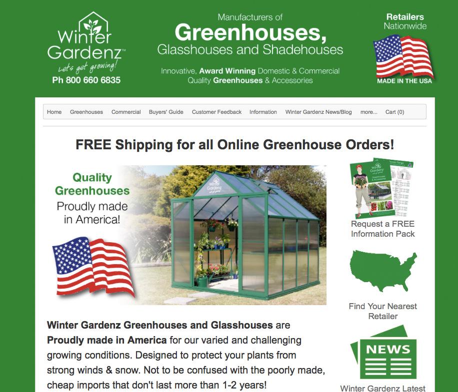 Winter Gardenz Greenhouses  I Michigan, USA