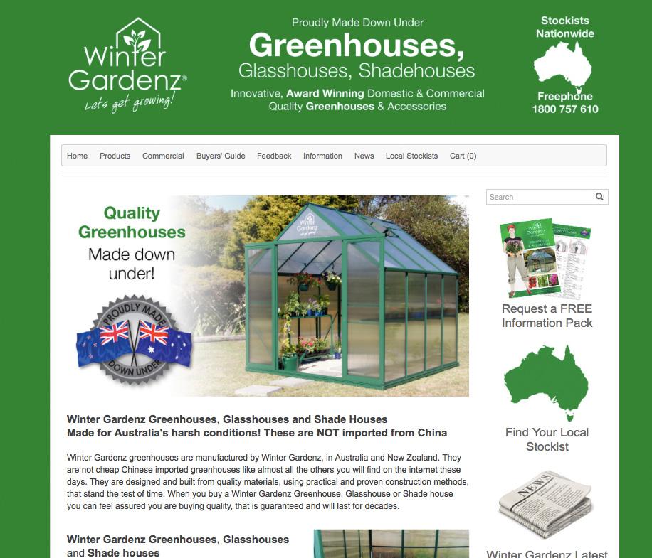 Winter Gardenz Greenhouses  I Melbourne, Australia