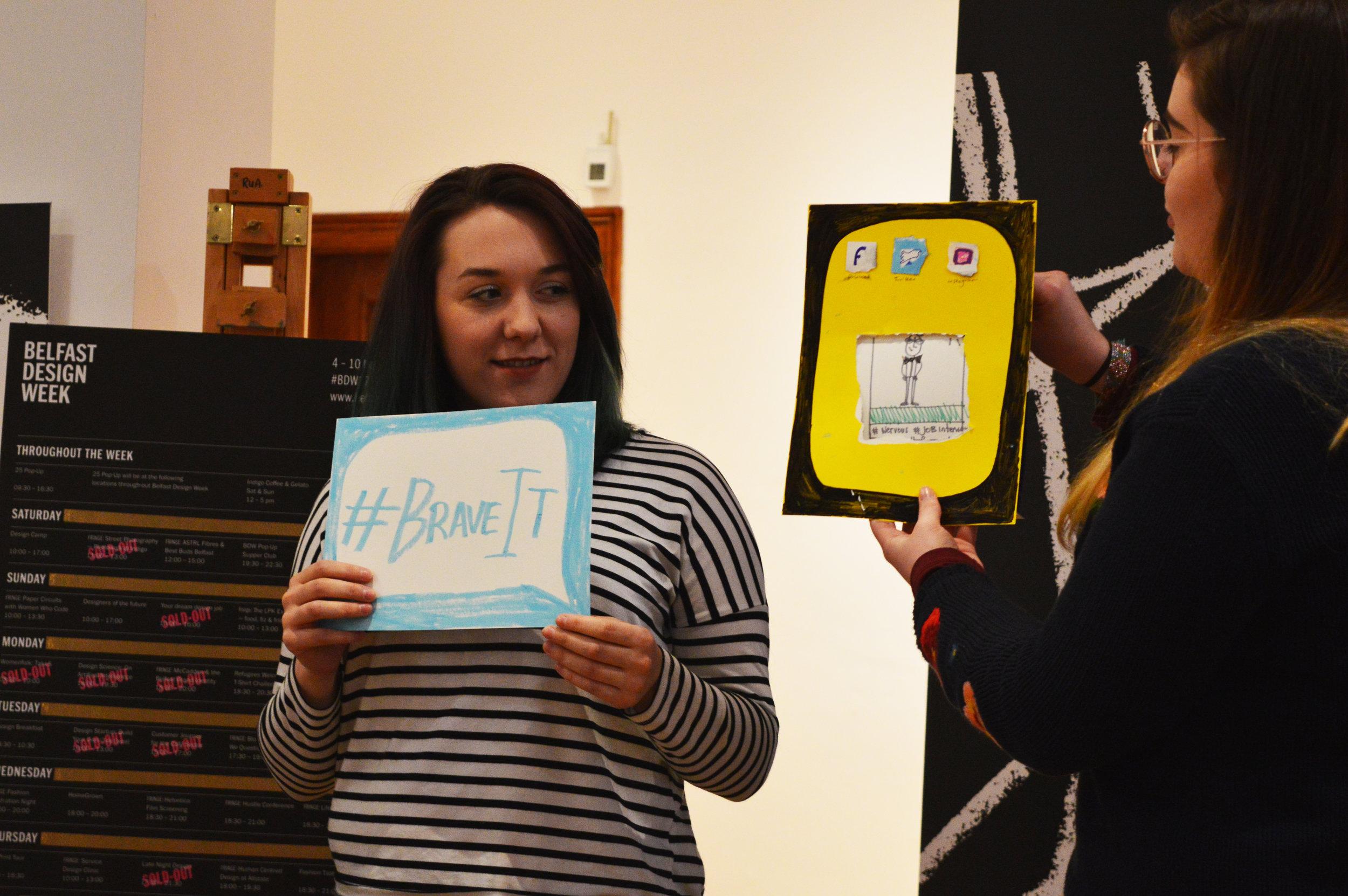 Alice Kearney and Alice Muir at Studio HAWRAF'S A-Z Workshop (Image: Megan Conlon)