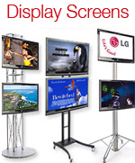 LCD Screens Plasma Screens Touch Screens Video Cameras Display Screen Stands