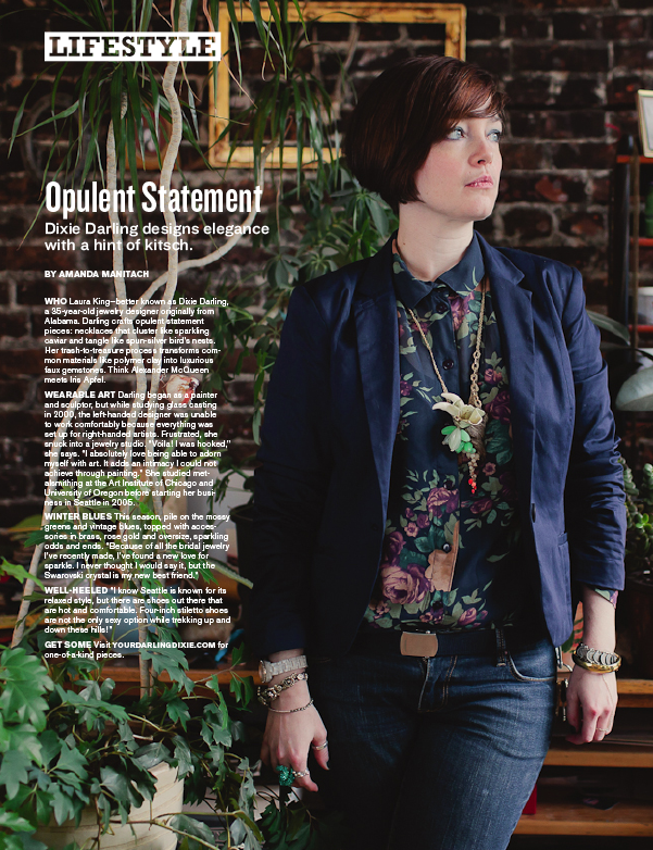 Portrait for City Arts Magazine by Seattle based photographer Dylan Priest