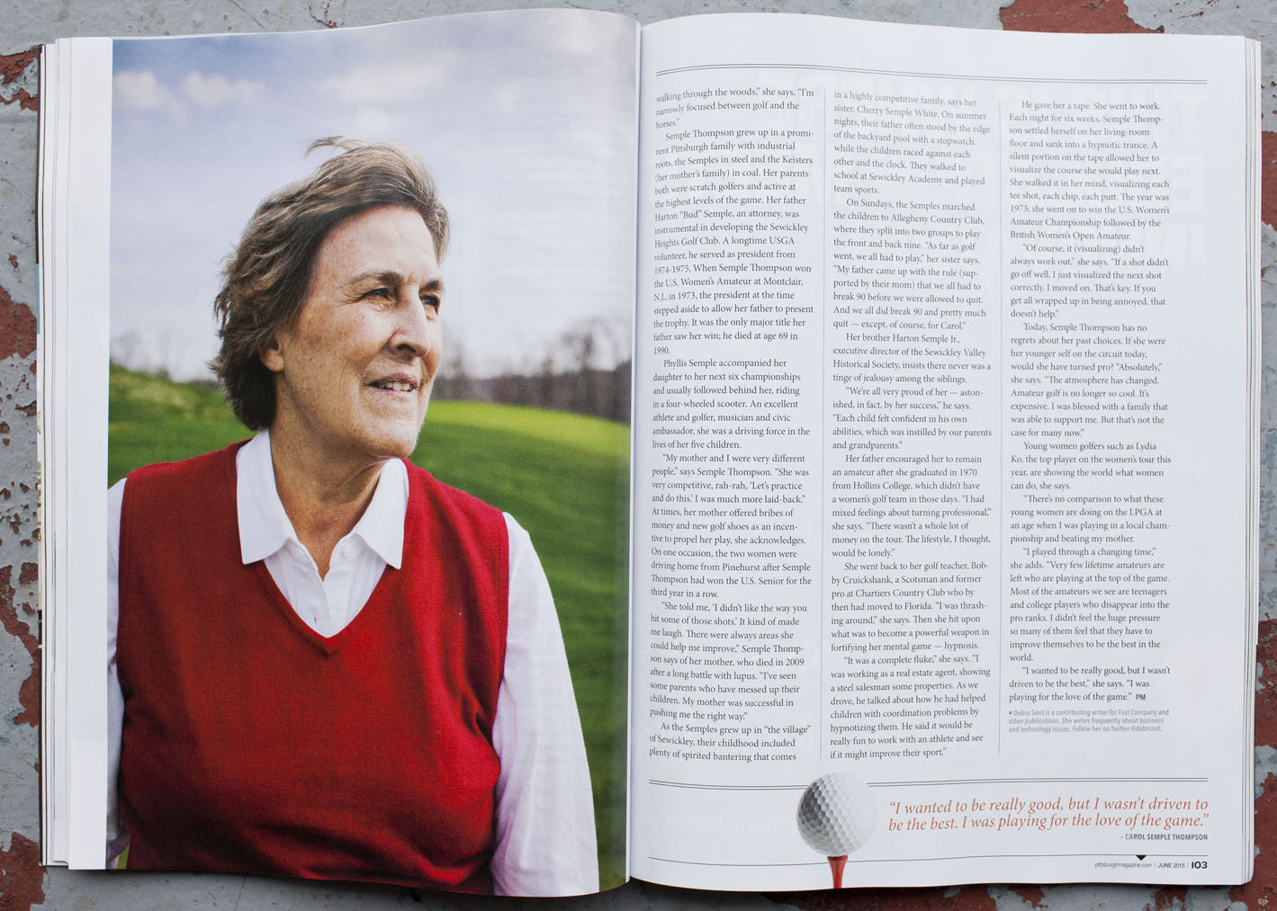 Portraits of Carol Se  mple Thompson for Pittsburgh Magazine by Seattle based photographer Dylan Priest