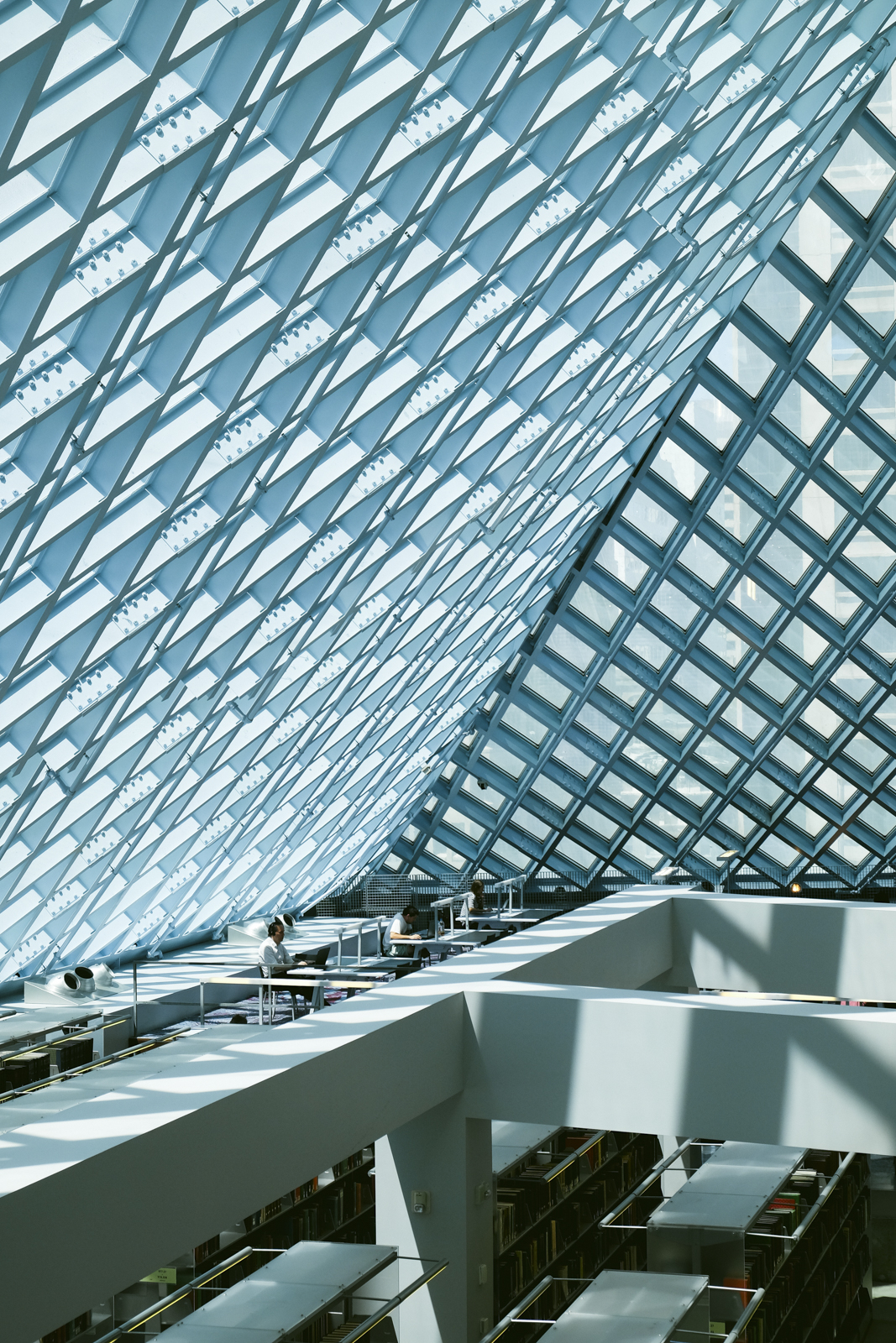 Seattle public library  by photographer Dylan Priest