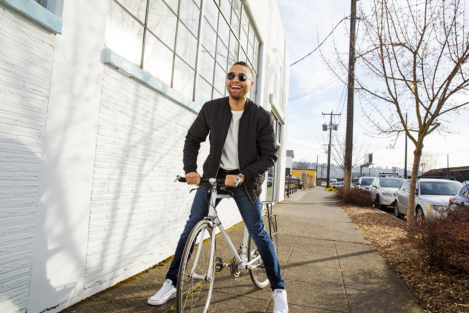 Lifestyle for Sharply Clothing  taken by Seattle photographer Dylan Priest.