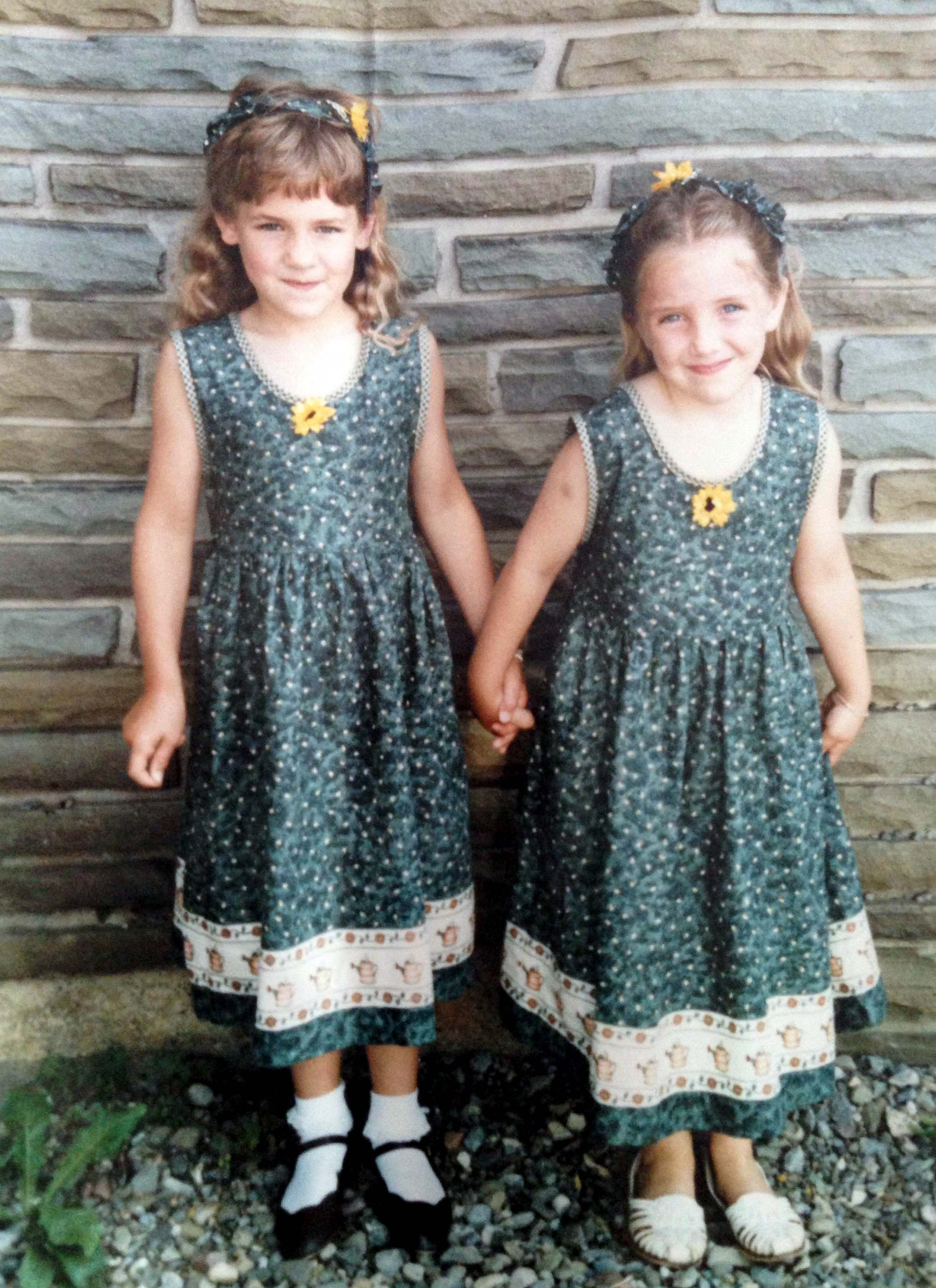 Yup. Matching dresses. My mom made them. You can check out more by her  here.