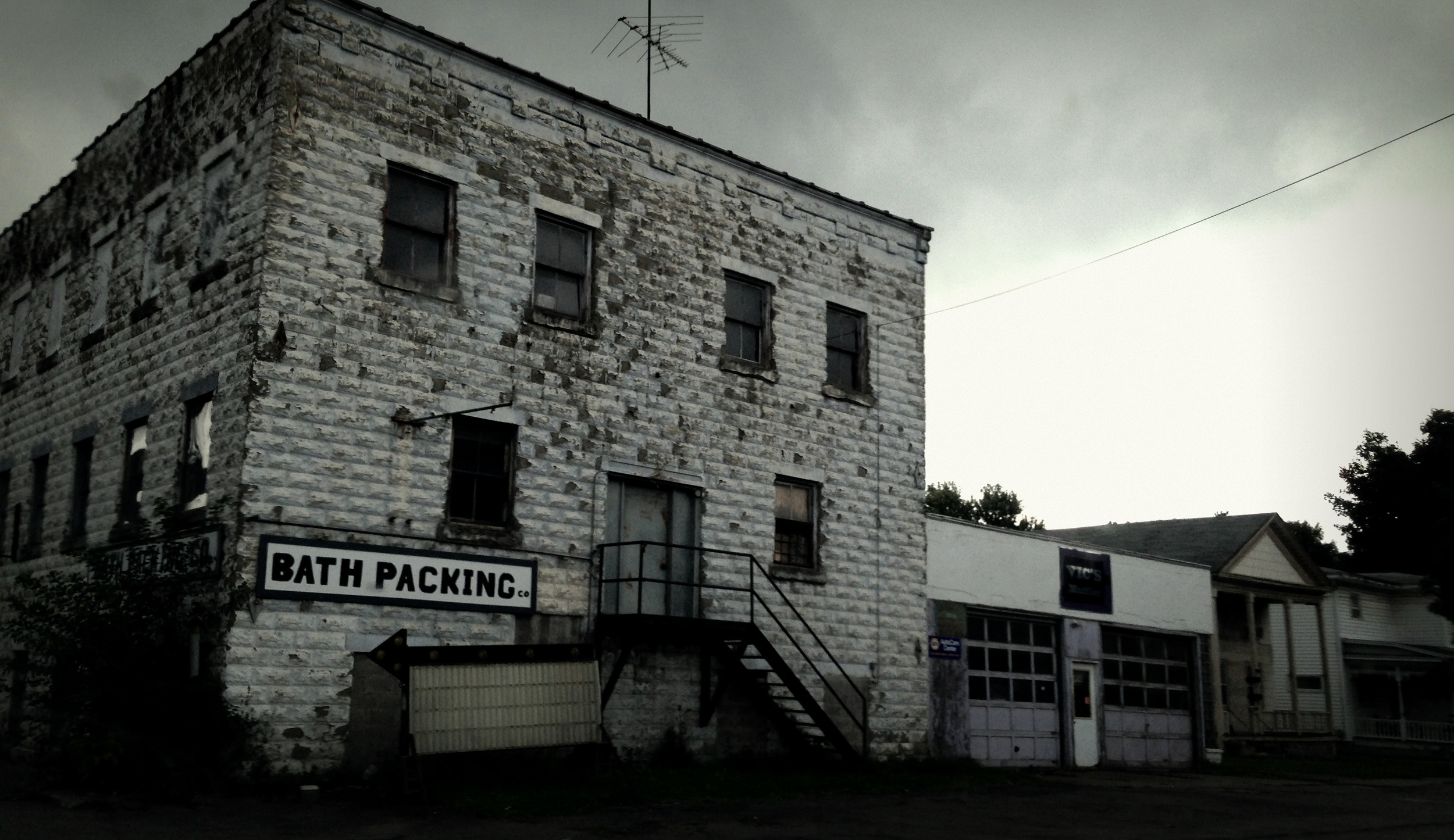 This is an abandoned meat packing plant in my home town...